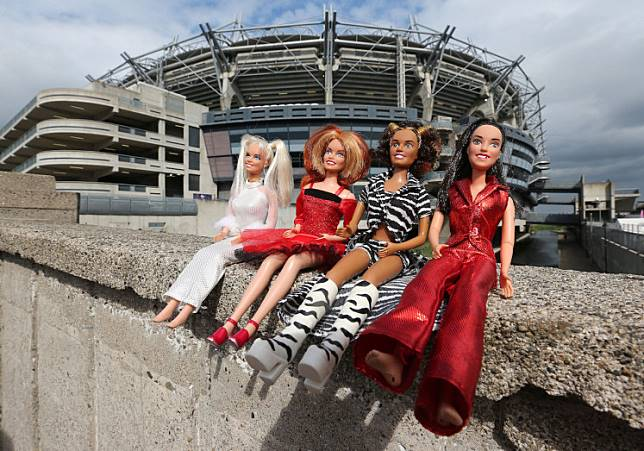 Fans bring original spice girls dolls to Croke Park ahead of tonight's opening concert in the Spice Girls reunion tour in Dublin