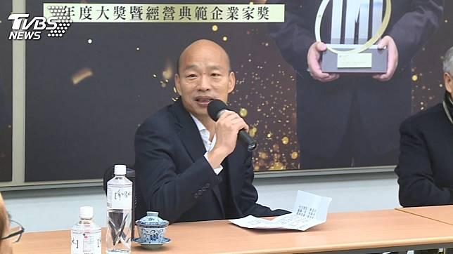 韓國瑜10日接受媒體專訪時提到,若是小英繼續連任,台灣未來4年只會慘慘慘慘。(TVBS資料圖)