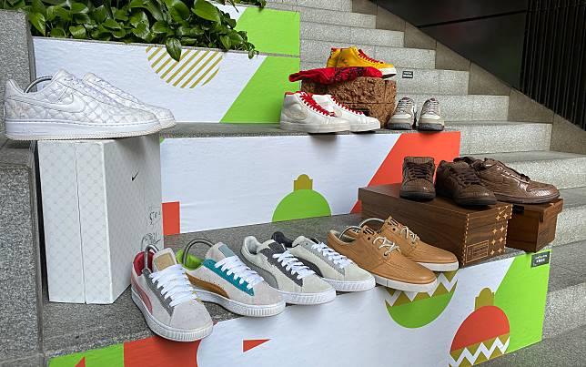 (圖01)「Joyful Collection」波鞋展@「THE FOREST」展出9對由Michael Lau創作的聯乘波鞋,注目度極高。