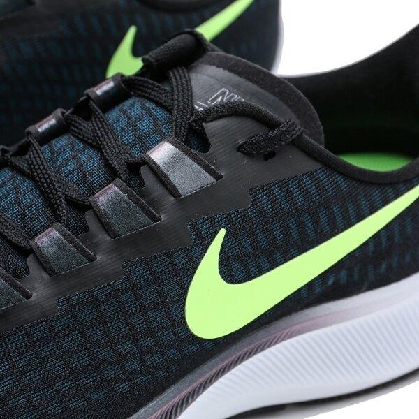 NIKE 慢跑鞋 ZOOM PEGASUS 37 飛馬 黑 藍 螢光綠 休閒 廣告款 男 (布魯克林) BQ9646-001