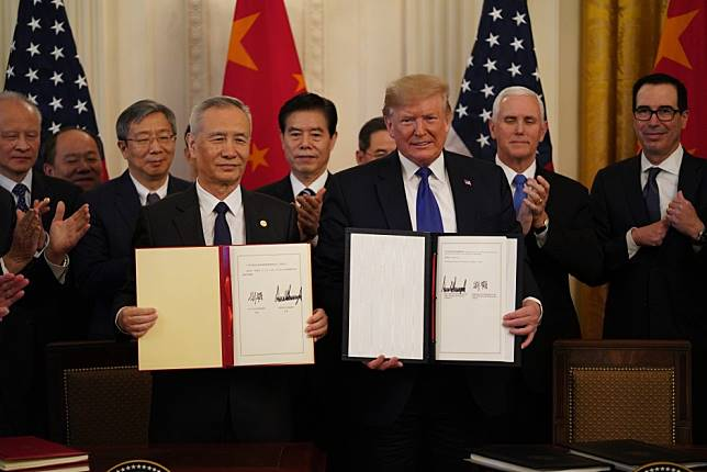 What does American business call the US-China trade deal? A start