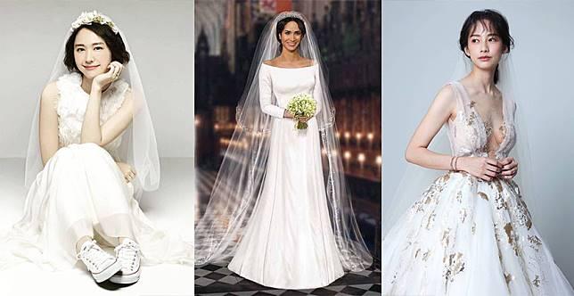 華麗公主風OUT!女星結婚搶穿「輕婚紗」,按照身形穿更添仙氣
