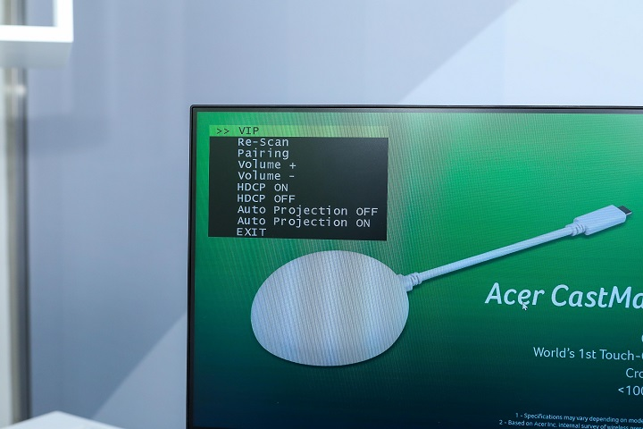 Acer CastMaster Touch 無線簡報系統,不受 VGA 或 HDMI 限制、觸控即進入簡報模式