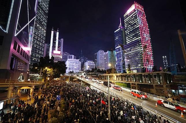 香港反修例示威持續。 (美聯社圖片)