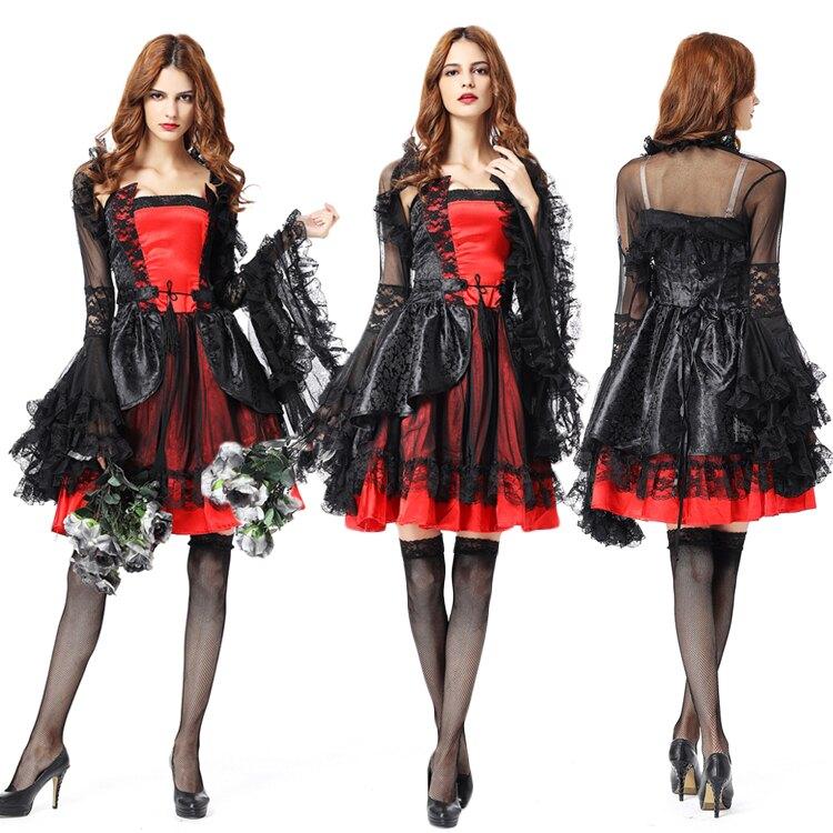 【免運】快速出貨 萬圣節吸血鬼伯爵服裝成人女巫婆惡魔女王長裙cosplay鬼新娘服裝
