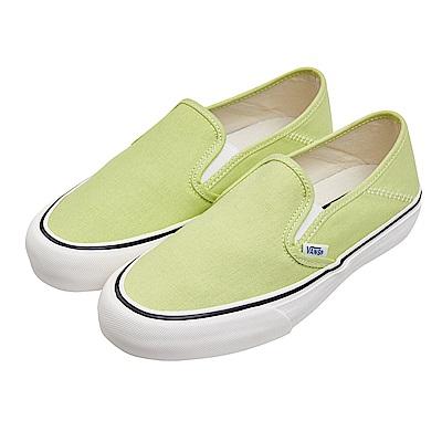 (女)VANS Slip-On SF 經典素色懶人鞋*黃綠VN0A3MVDVSC