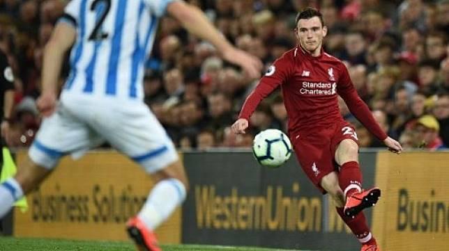 Pemain belakang Liverpool Andrew Robertson [AFP]