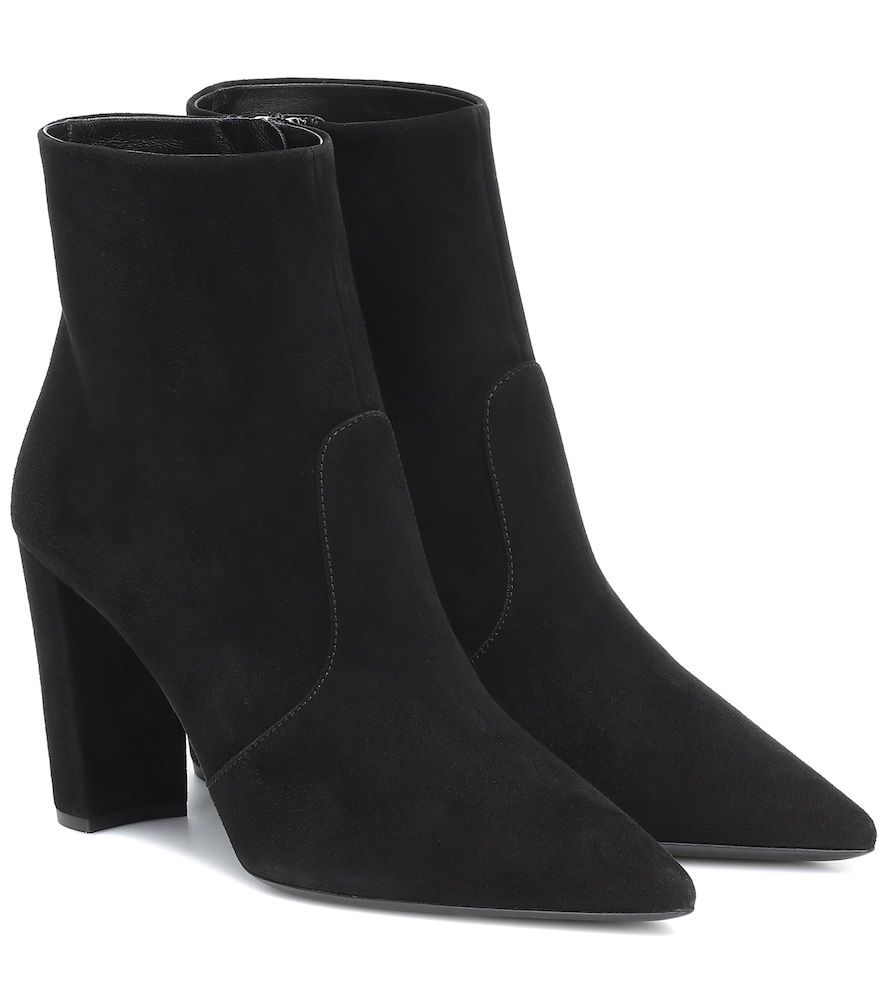 Utterly timeless yet incredibly chic, these suede ankle boots from Prada are sure to become your lat