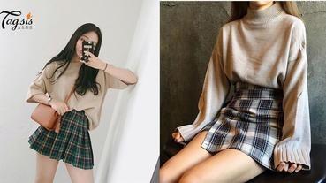 格仔短裙實在是看不厭~A字裙、百摺裙、高腰裙,都來一件也不誇張!