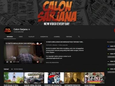 Akun Youtube Calon Sarjana Tiba-tiba Menghilang. Di-Suspend?