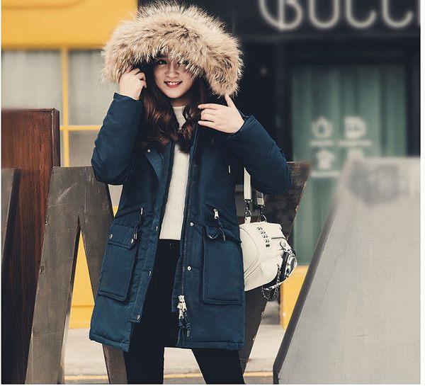 女款 正韓空運真貉子毛衝鋒衣情侶裝 90%白鴨絨 羽絨大衣獨家 超保暖-15度C【23-25-8011-18】ibella