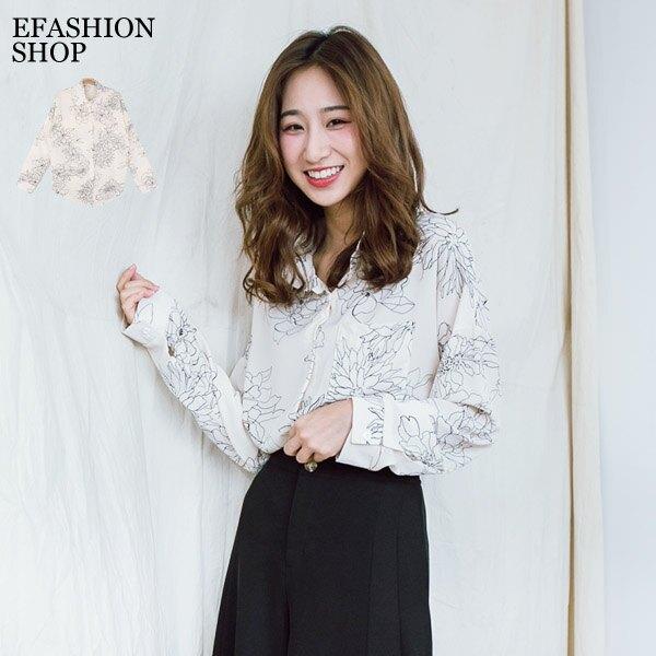 襯衫-手繪花朵單口袋雪紡襯衫-eFashion 預【L15719190】。流行女裝與女鞋人氣店家eFashion的2019初秋、20191002有最棒的商品。快到日本NO.1的Rakuten樂天市場的