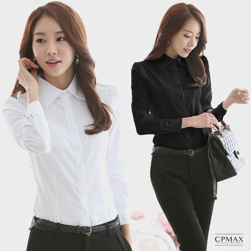 CPMAX 女襯衫 雪紡襯衫 女上班襯衫 女長袖襯衫 女商務襯衫 面試襯衫 OL襯衫 白襯衫 面試襯衫 會議襯衫 正式襯衫 【W06】