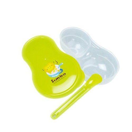 簡單研磨輕鬆調理,媽咪好輕鬆~特殊葫蘆造型,方便分配食物又易握!碗底顆粒設計,加強研磨更全面無毒塑膠材質,印刷顏料也安全;-- 研磨器餐盒 --材質:聚丙烯PP(-20℃~+100℃)款式:淘氣綠 /