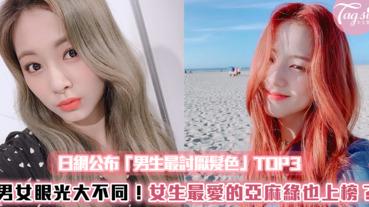 男女眼光大不同!日網公布「男生最討厭髮色」TOP3,女生最愛的亞麻綠居然上榜?