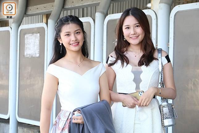 謝恩靈(左)與梁懿婷。