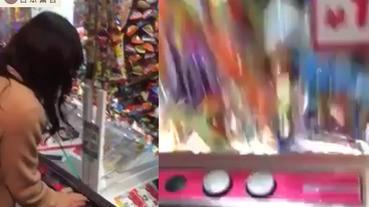 【教學片】日本妹神技夾糖 夾出瀑布