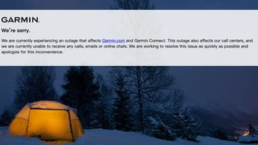 Garmin 遭勒索軟體攻擊全球中斷!官方:搶修中但用戶資料不受影響