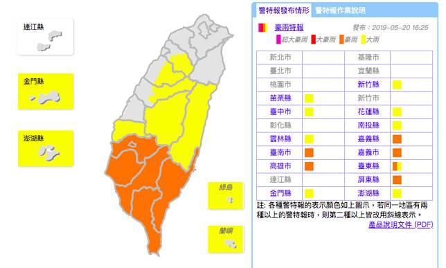 資料來源:中央氣象局