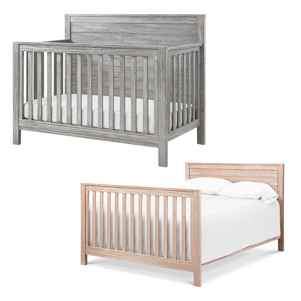喬依思 Lajoie 仿古泰勒四合一嬰兒床-灰/卡其(附贈床墊.護欄)130x70cm