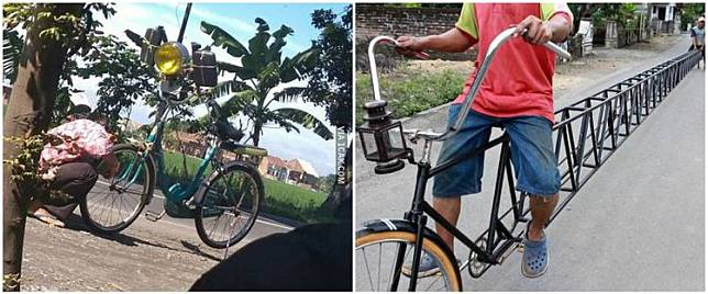 10 Modifikasi sepeda kelewat absurd, bikin tepuk jidat