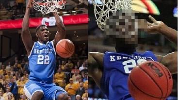 美國大學明星球員完美灌籃 下一秒卻「齒掛籃網」