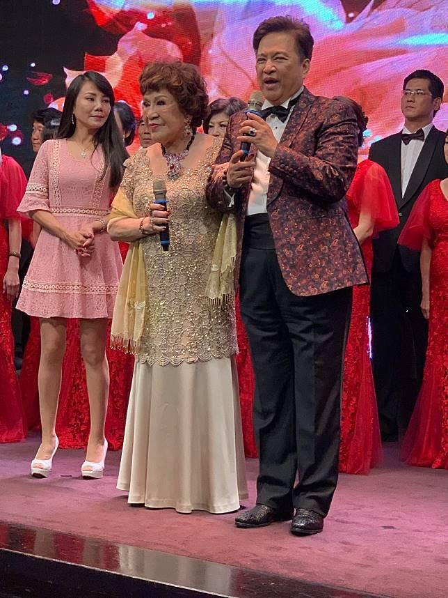阿姑周遊過生日,導演老公李朝永陪伴左右。記者陳慧貞/攝影