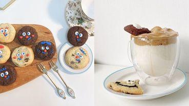 「美式軟餅乾」還有可愛表情!士林甜點店「老靈魂」朱古力軟餅乾超濃郁⋯奶油系裝潢太療癒