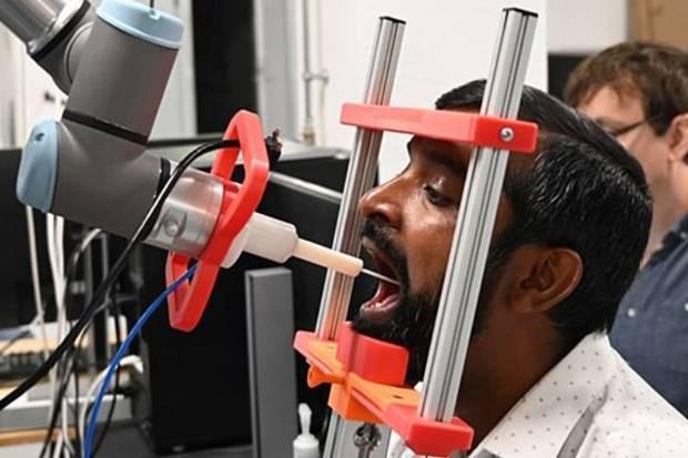 Robot Pembantu Medis Mampu Lakukan Swab Tenggorokan