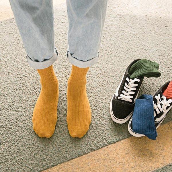 男襪子棉質中筒襪正韓學院風襪防臭長襪歐美街頭潮流秋季薄款男生