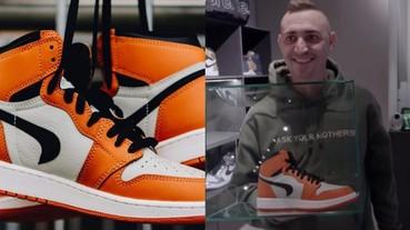 機率比中樂透還低!因製作過程出錯而呈現倒轉 Swoosh 的 Air Jordan 1 竟成了「史上最貴」的鞋款?