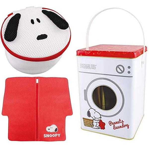 【震撼精品百貨】史奴比_Peanuts Snoopy~史努比 SNOOPY 2入造型洗衣袋附收納箱#76438