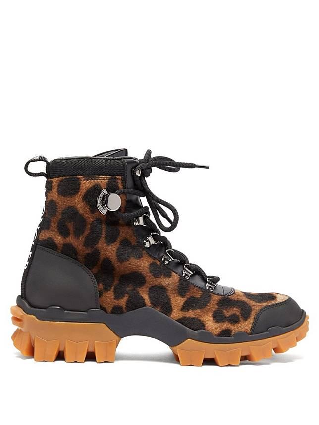 MONCLER豹紋高筒行山鞋(互聯網)