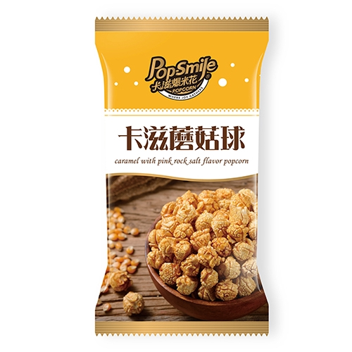 卡滋蘑菇球爆米花-焦糖玫瑰鹽口味100G【愛買】