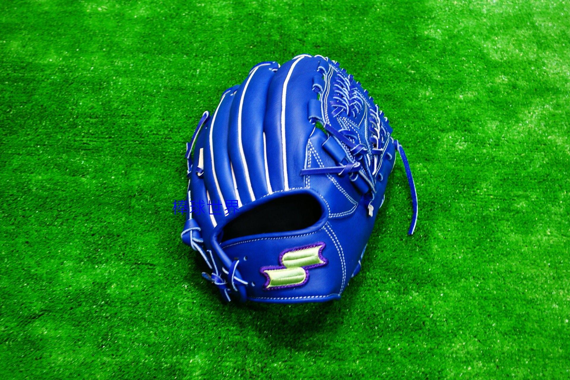 棒球世界全新18年【SSK】 硬式牛皮棒球手套 - DWG577C 特價 藍色內野網狀 12吋 全牛皮 特價2680 加手套袋