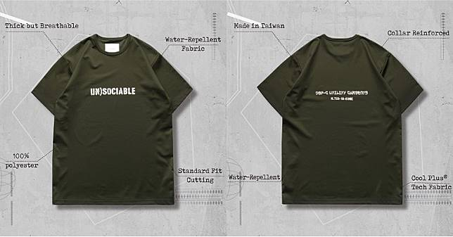 WR-04「UN)SOCIABLE」Logo T-Shirt in Olive(互聯網)