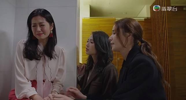 陳自瑤得好友安慰後決定放棄肚裏的BB。