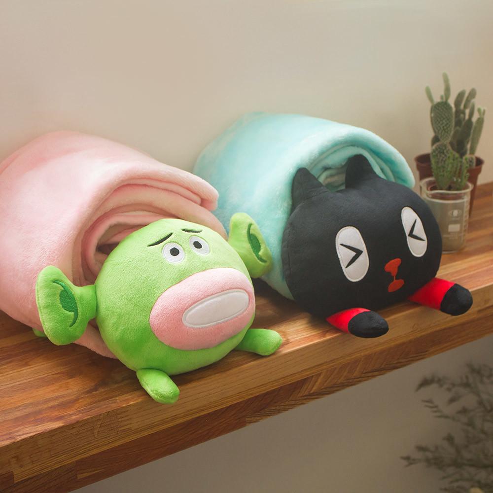 一起蓋被被冷氣毯 Kuroro 小綠人 【Chic Casa 奇可家居】