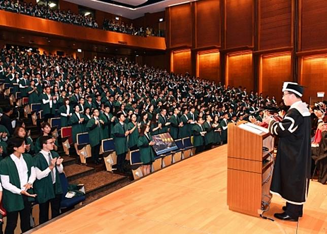 香港大學去年的開學禮。(港大網頁)
