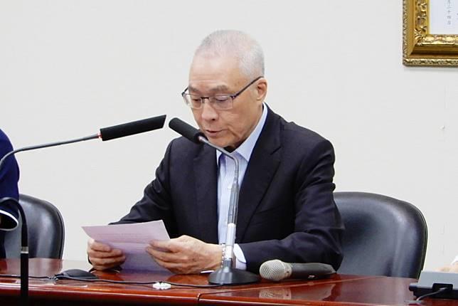 國民黨主席吳敦義。( 圖 / 記者陳弘志攝,2019.07.05 )