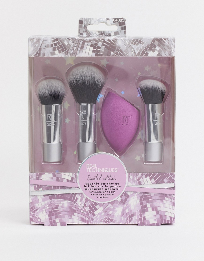 Makeup brush set by Real Techniques The gift you keep for yourself Comes with three travel-size and