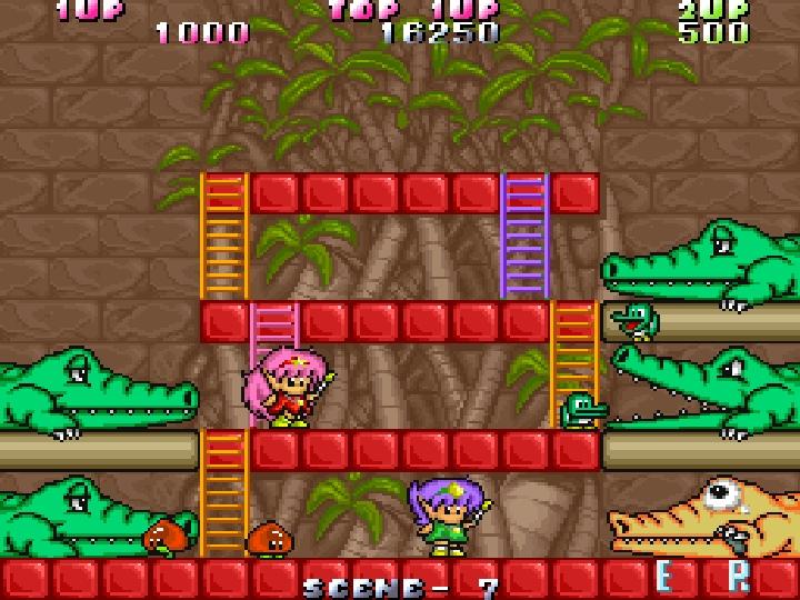 樓梯在Boss戰中也扮演相當重要的角色,讓玩家可以從不同的方位上下移動。