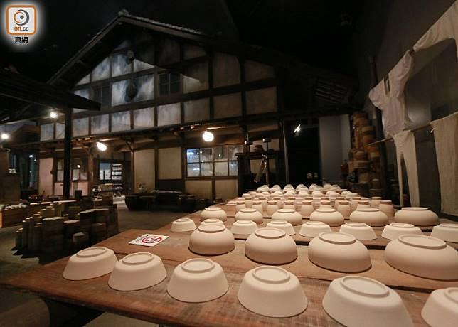 博物館把當年瀨戶的陶窰工場環境重現。(劉達衡攝)