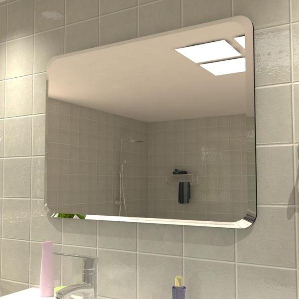 浴室鏡子免打孔壁掛衛生間臥室宿舍高清貼墻簡約粘貼梳妝台化妝鏡 星空小鋪
