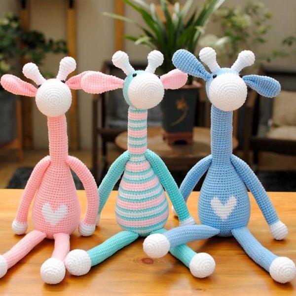 手工diy編織材料包長頸鹿寶寶玩具鉤針毛線娃娃玩偶布藝diy材料包