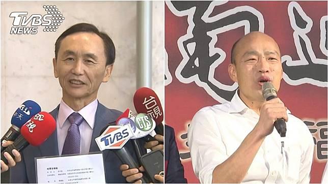 美麗島電子報董事長吳子嘉(左)遭高雄市長韓國瑜(右)提告。(圖/TVBS資料照)