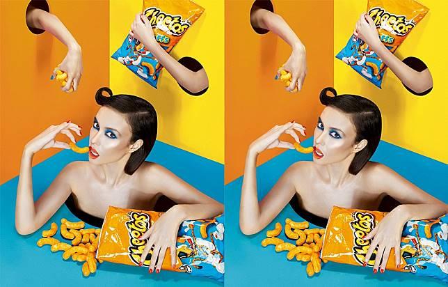 Inspirasi makeup dari Cheetos (dok. Dookie Ducay)