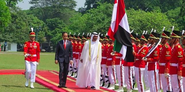Jokowi dan Pangeran Abu Dhabi (Liputan6.com)