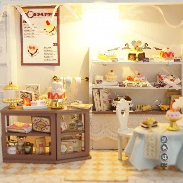 diy小屋 巧之匠手工制作迷你店鋪房子模型拼裝玩具創意禮物生日女