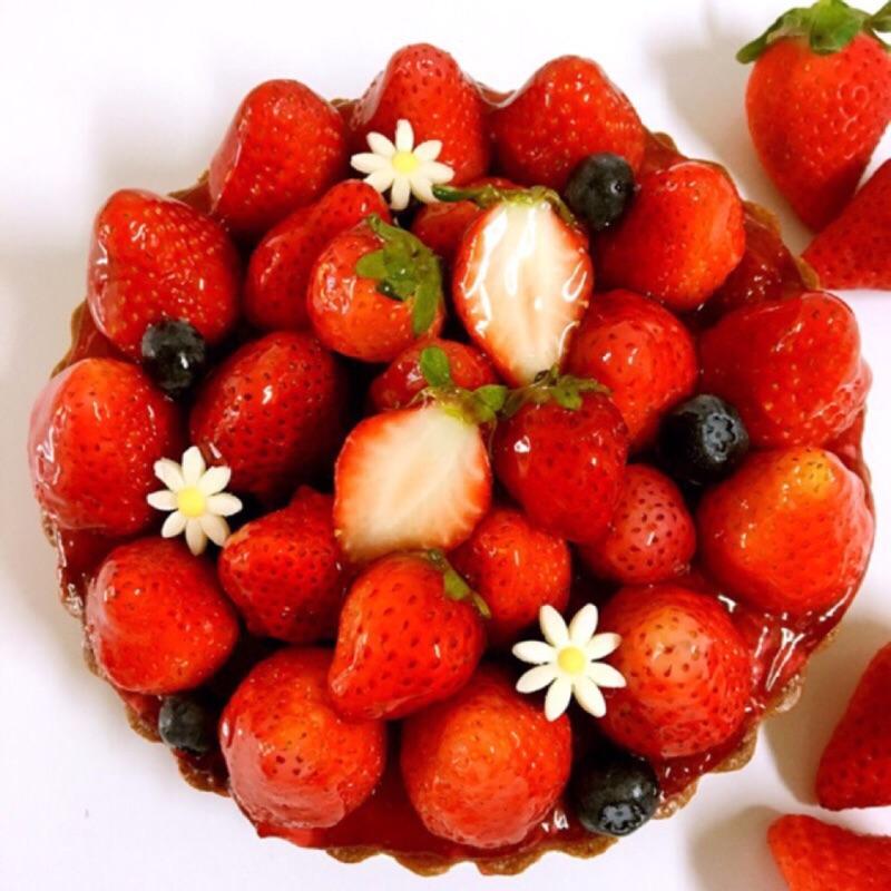 【紅鞋女孩】新鮮草莓乳酪手工塔 6吋